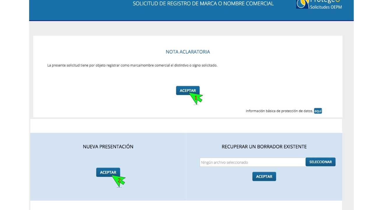 Paso 7 de registrar una marca en España