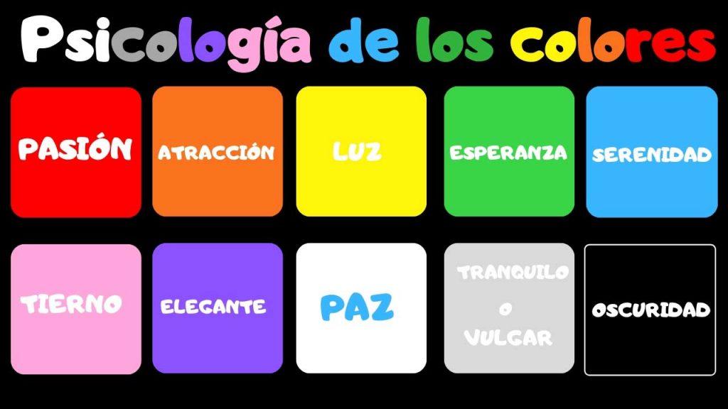 significado psicológico de los colores